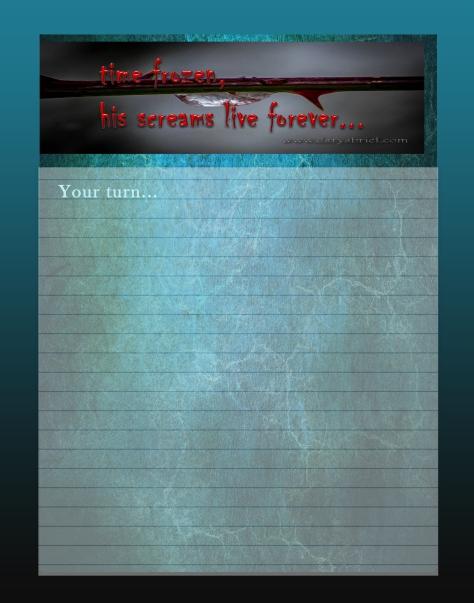 Journal Writing Page timefrozen